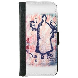 Funda Cartera Para iPhone 6/6s Acuarela de señor Takagari Samurai Pink Hue del