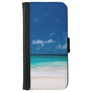 Funda Cartera Para iPhone 6/6s Agua del cielo azul y de la turquesa