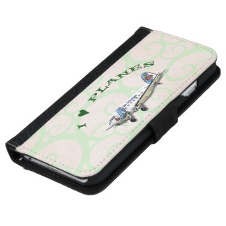 Funda Cartera Para iPhone 6/6s Amo los aviones - Dakota DC3