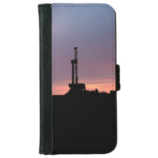 Funda Cartera Para iPhone 6/6s Aparejo de la perforación petrolífera, salida del