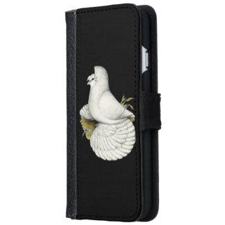 Funda Cartera Para iPhone 6/6s Blanco de la paloma del trompetista