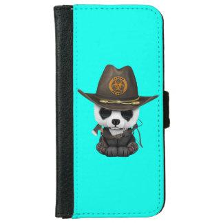 Funda Cartera Para iPhone 6/6s Cazador del zombi del oso de panda del bebé