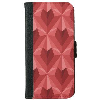 Funda Cartera Para iPhone 6/6s Corazón del polígono