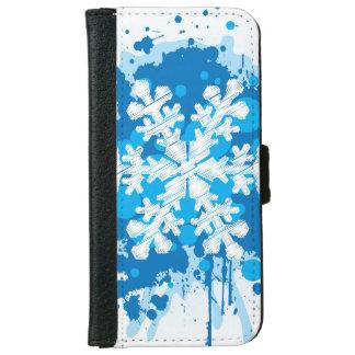 Funda Cartera Para iPhone 6/6s Diseño salpicado del copo de nieve del navidad de