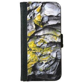 Funda Cartera Para iPhone 6/6s El gris cubierto de musgo oscila la foto