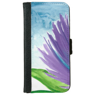 Funda Cartera Para iPhone 6/6s Flor púrpura 1