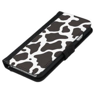 Funda Cartera Para iPhone 6/6s Fondo del modelo de la vaca