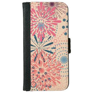 Funda Cartera Para iPhone 6/6s Fuegos artificiales