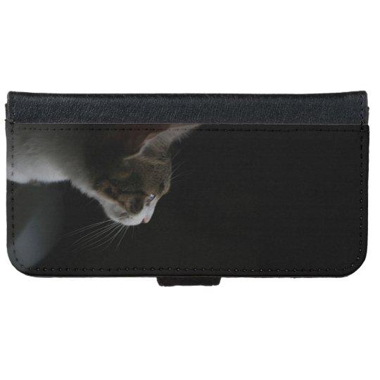 Funda Cartera Para iPhone 6/6s gato elegante bonito de p