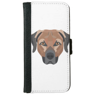 Funda Cartera Para iPhone 6/6s Perro Brown Labrador del ilustracion