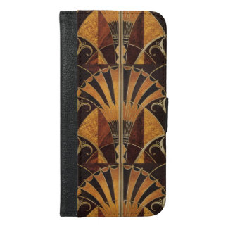 Funda Cartera Para iPhone 6/6s Plus arte Nouveau, art déco, vintage, colores de madera