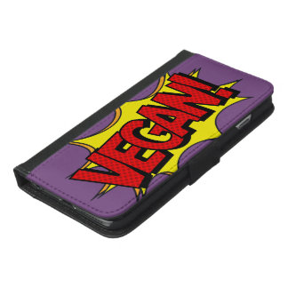 FUNDA CARTERA PARA iPhone 6/6S PLUS ARTE POP DEL VEGANO