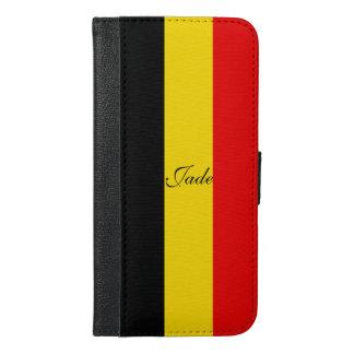 Funda Cartera Para iPhone 6/6s Plus Bandera de Bélgica