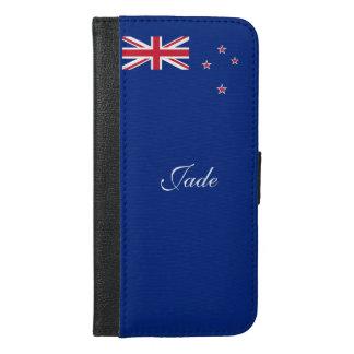 Funda Cartera Para iPhone 6/6s Plus Bandera de Nueva Zelanda