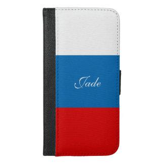 Funda Cartera Para iPhone 6/6s Plus Bandera de Rusia