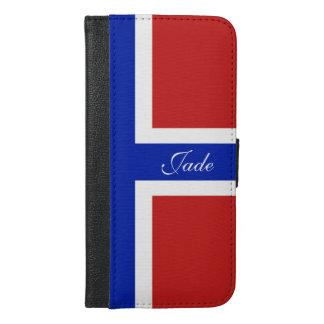 Funda Cartera Para iPhone 6/6s Plus Bandera del escandinavo de Noruega