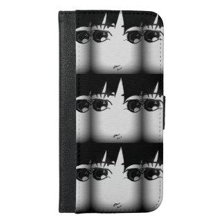 Funda Cartera Para iPhone 6/6s Plus Caja blanco y negro del teléfono