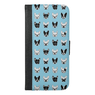 Funda Cartera Para iPhone 6/6s Plus Collage lindo de la familia del perrito de los
