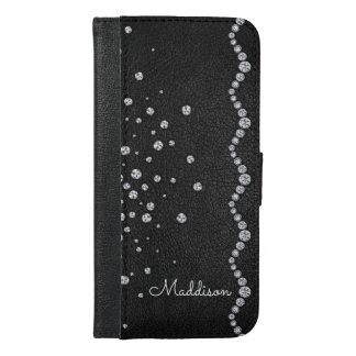 Funda Cartera Para iPhone 6/6s Plus Cuero personalizado del diamante artificial del