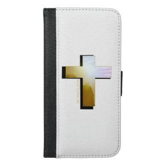Funda Cartera Para iPhone 6/6s Plus Dios ama toda la caja del teléfono
