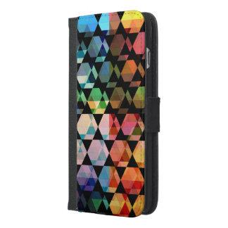 Funda Cartera Para iPhone 6/6s Plus Diseño gráfico del hexágono abstracto