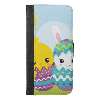 Funda Cartera Para iPhone 6/6s Plus Dúo lindo de pascua