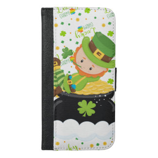 Funda Cartera Para iPhone 6/6s Plus El Leprechaun del arroz del St