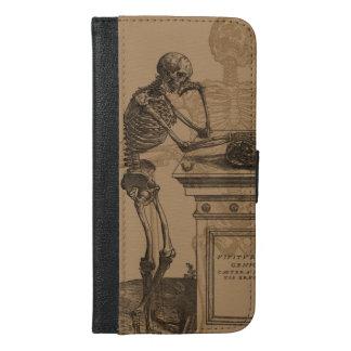 Funda Cartera Para iPhone 6/6s Plus Esqueletos y muerte