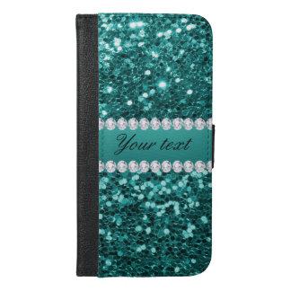 Funda Cartera Para iPhone 6/6s Plus Falso brillo y diamantes del trullo elegante