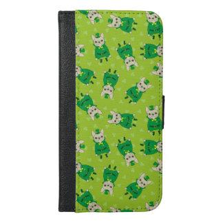 Funda Cartera Para iPhone 6/6s Plus Frenchie lindo afortunado el el día de St Patrick