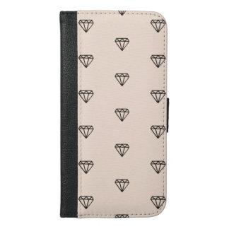 Funda Cartera Para iPhone 6/6s Plus Modelo elegante lindo del rosa del diamante