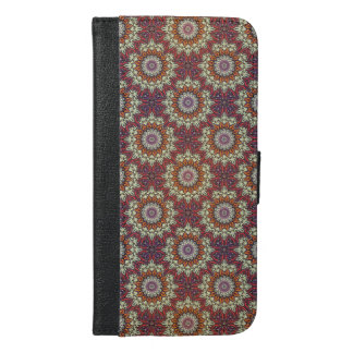 Funda Cartera Para iPhone 6/6s Plus Modelo floral étnico abstracto colorido de la