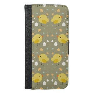 Funda Cartera Para iPhone 6/6s Plus Polluelos lindos de pascua y pequeño modelo de los