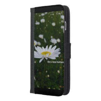 Funda Cartera Para iPhone 6/6s Plus Sea Niza un iPhone humano 6/6s más la caja de la