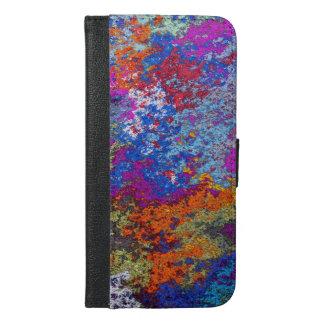 Funda Cartera Para iPhone 6/6s Plus Textura rústica oxidada de la salpicadura de la