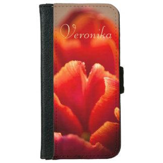 Funda Cartera Para iPhone 6/6s Tulipán rojo