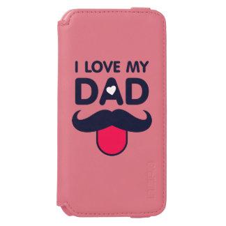 Funda Cartera Para iPhone 6 Watson Amo mi icono lindo del bigote del papá