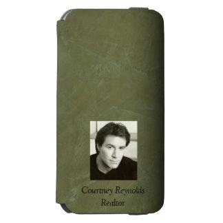 Funda Cartera Para iPhone 6 Watson Añada su estuco toscano del verde verde oliva de