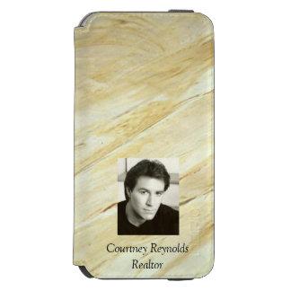 Funda Cartera Para iPhone 6 Watson Añada su mármol del Viejo Mundo de la foto