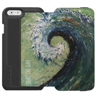 Funda Cartera Para iPhone 6 Watson Arte abstracto de la onda costera de la playa