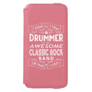 Funda Cartera Para iPhone 6 Watson Banda de rock clásica impresionante del BATERÍA