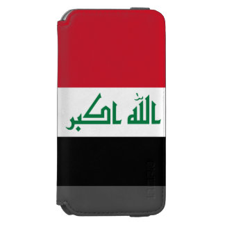 Funda Cartera Para iPhone 6 Watson Bandera de Iraq