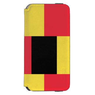 Funda Cartera Para iPhone 6 Watson Bandera nacional de Bélgica