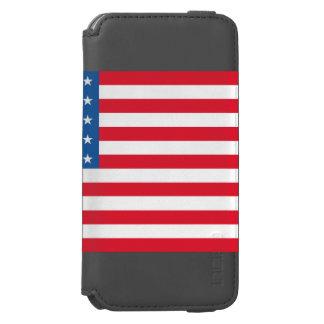 Funda Cartera Para iPhone 6 Watson Barras y estrellas de la bandera de los E.E.U.U.