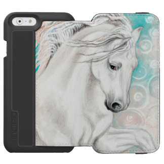 Funda Cartera Para iPhone 6 Watson Caballos andaluces azules