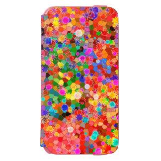 Funda Cartera Para iPhone 6 Watson Caja abstracta colorida de la flor