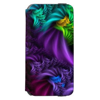 Funda Cartera Para iPhone 6 Watson Caja abstracta púrpura del arte del fractal