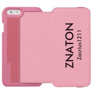 Funda Cartera Para iPhone 6 Watson Caja rosada del teléfono Zacrius1211