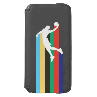 Funda Cartera Para iPhone 6 Watson Caso del iphone de la cartera de NBA de Russel