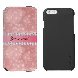 Funda Cartera Para iPhone 6 Watson Chispas rosadas y diamantes de Bokeh
